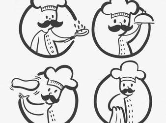 free restaurant menu template chefs logos