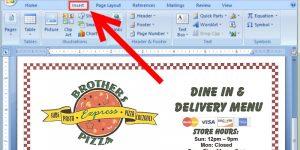 free restaurant menu templates add your restaurants logo to your restaurant menu