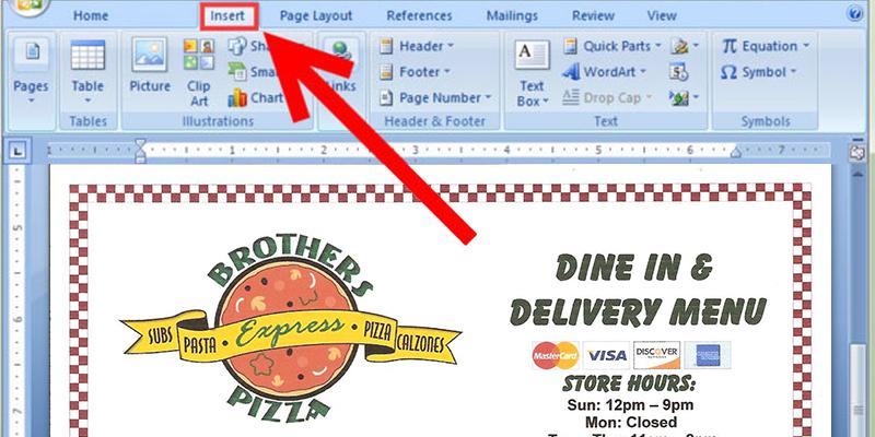 free restaurant menu templates