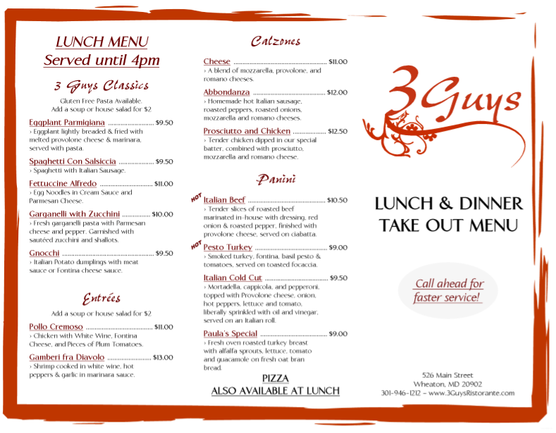free restaurant menu templates for word