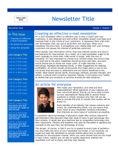 free school newsletter templates email newsletter template