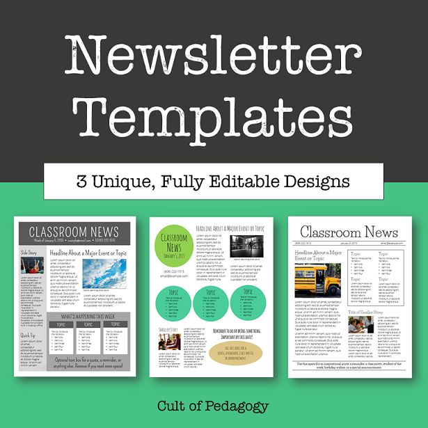 free school newsletter templates