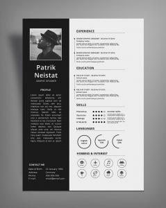 free simple resume templates simple resume cv design template free psd file