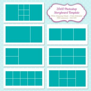 free storyboard templates photoshop collage template nuhrzu
