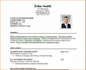 free teacher resume templates format of resume for job application to download resume format ss
