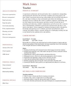 free teacher resume templates teacher job curriculum vitae