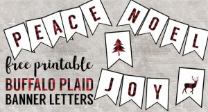 free thanksgiving templates buffalo plaid banner letters short