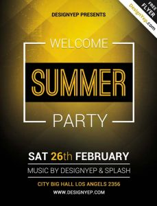 free thanksgiving templates free summer welcome party flyer psd template freepsdflyer com