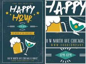 free thanksgiving templates happy hour beers and cocktails flyer template