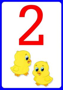 free time sheets number two flashcards for kids