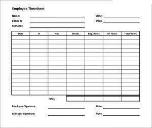 free timesheet template free timesheet calculator template