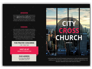 free tri fold brochure template church brochure