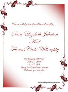 free wedding invitation templates for word free wedding invitation template