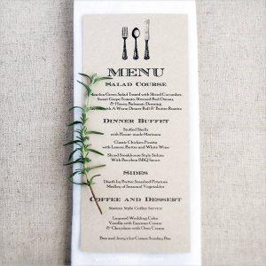 free wedding menu templates diy wedding menu card