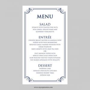 free wedding menu templates il xn ioqn