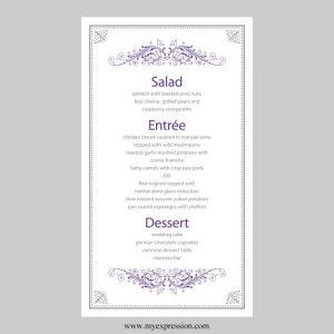 free wedding menu templates il xn llkq