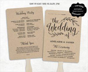 free wedding program fan templates fan model wedding program template download