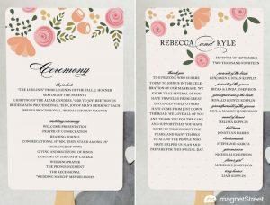 free wedding program fan templates pfc botanicalbliss