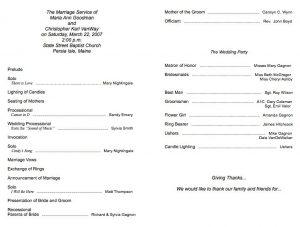free wedding program fan templates simple wedding program