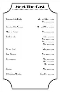 free wedding program template word orig
