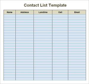 free wedding program template word contact list template