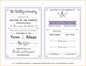 free wedding program template word free wedding program templates lavender diy wedding program ahandcraftedwedding
