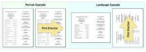 free wedding program template word portrait landscape printing key
