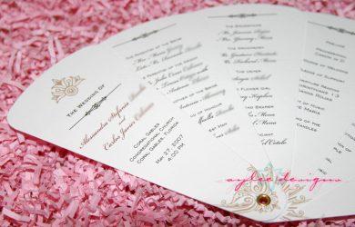 free wedding program templates fan program