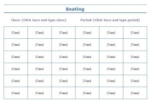 free wedding seating chart template seating chart