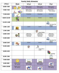 free weekly schedule template adb b