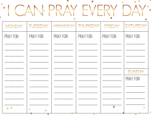 free weekly schedule template screen shot at pm x