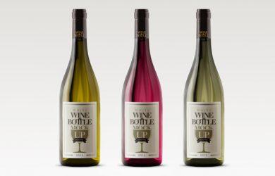 free wine label template white wine bottle mockup