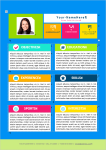 free word templates download kids resume template editable
