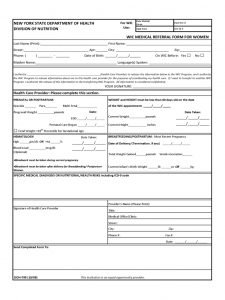 free word templates download wic medical referral form for women new york d