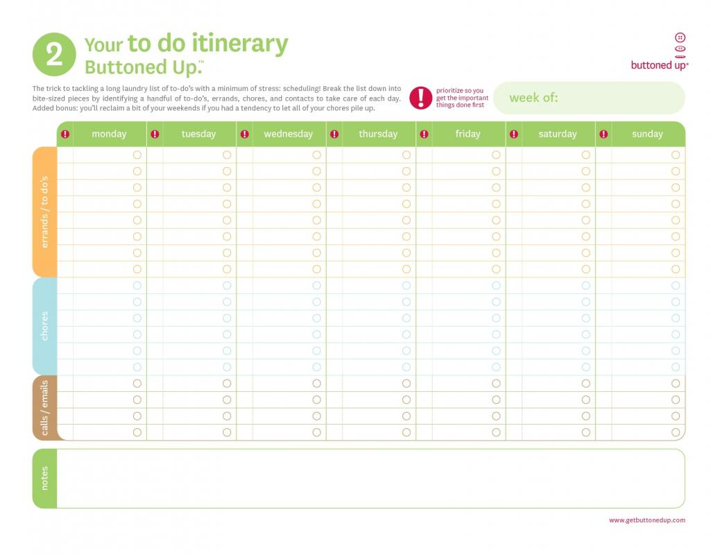 free work schedule template