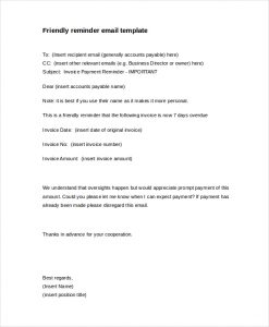 friendly payment reminder letter samples friendly payment reminder letter