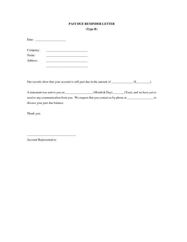 friendly payment reminder letter samples