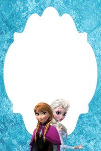 frozen bday invites frozen blank note card