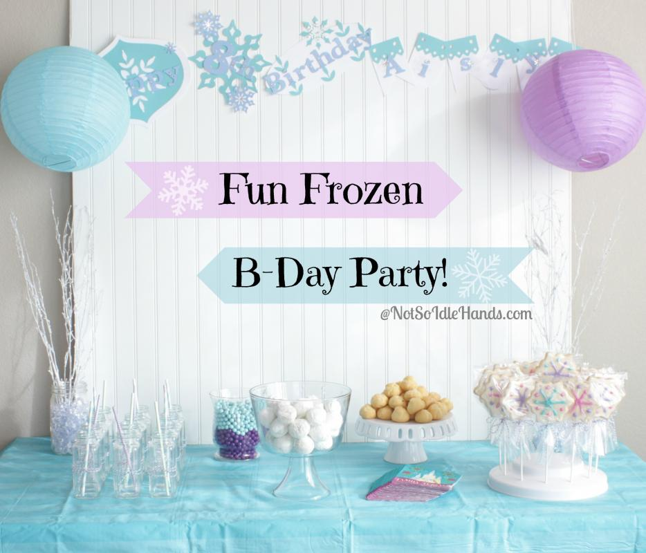 frozen bday invites