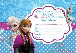 frozen bday invites s l