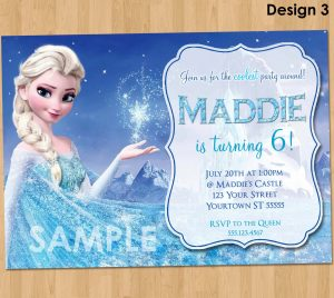 frozen birthday party invitations il fullxfull ijgf