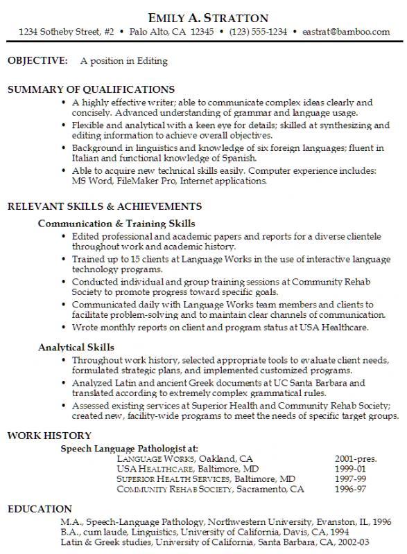 functional resume format
