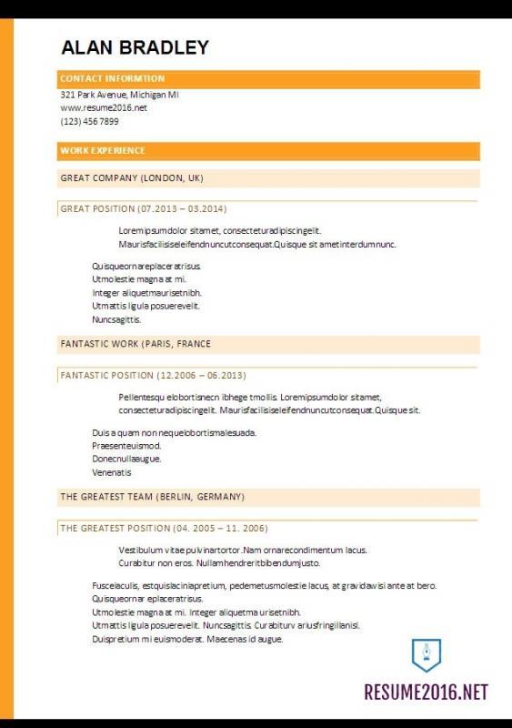 functional resume template word