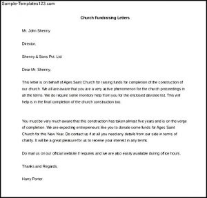 fund raising letter templates church fundraising letter template ms word download