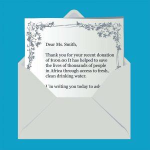 fund raising letter templates envelope