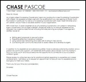 fund raising letter templates fundraising coordinator