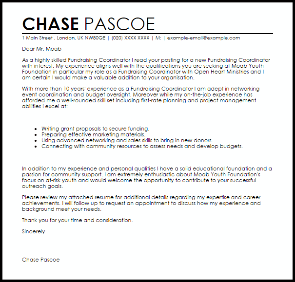 fund raising letter templates