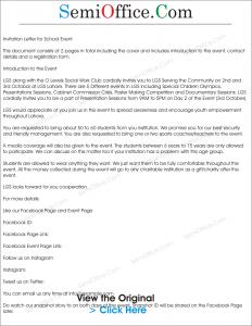 fund raising letter templates sample invitation for school event