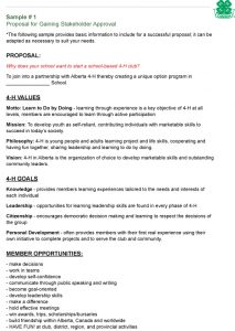 funding proposal template sample