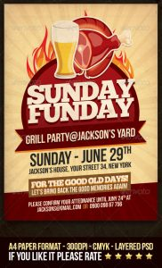 fundraiser flyer ideas sunday funday grill party flyer preview